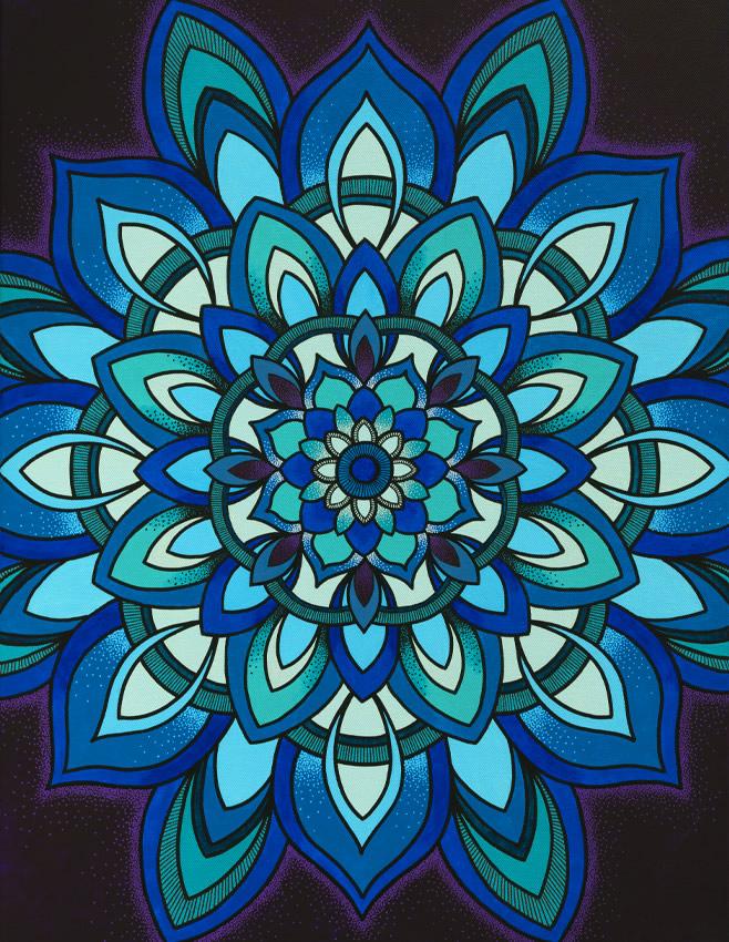 Healing Mandala Art Print