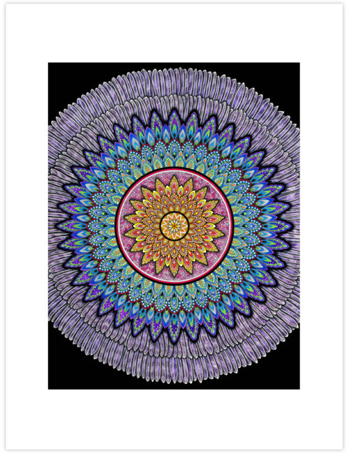 Hidden Beauty Mandala Art Print