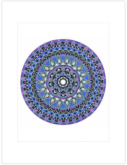 Majestic Embrace Mandala Art Print
