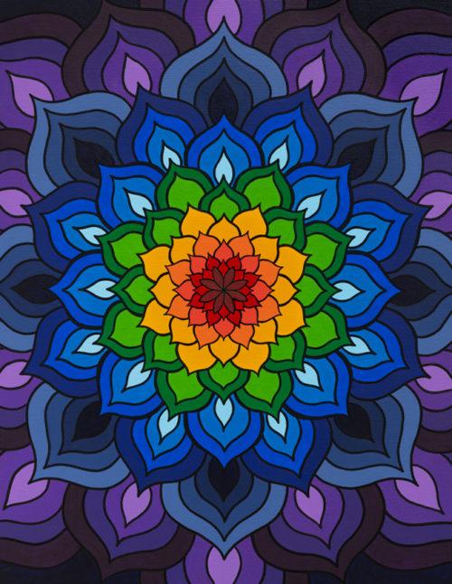 Chakra Meditation Mandala Art Print