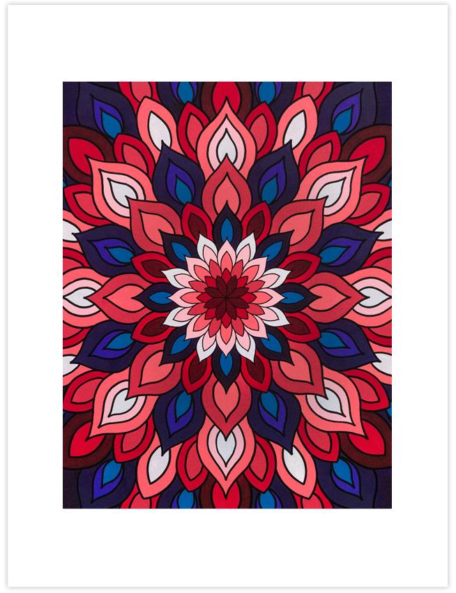Live the Passion Mandala Art Print